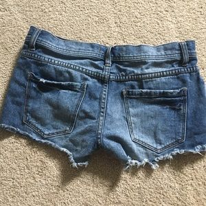 Free People Shorts - Free People denim shorts with button up